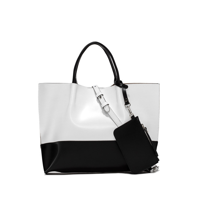 GIANNI CHIARINI TWENTY BIC MEDIUM WHITE SHOPPING BAG