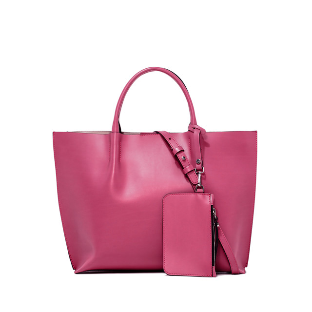 GIANNI CHIARINI: TWENTY MEDIUM PINK SHOPPING BAG