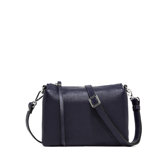 GIANNI CHIARINI: THREE MEDIUM CROSSBODY BAG COLOR BLUE
