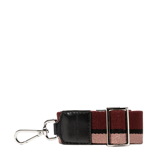GIANNI CHIARINI: 3STRIPES SHOULDER STRAP COLOR BURGUNDY