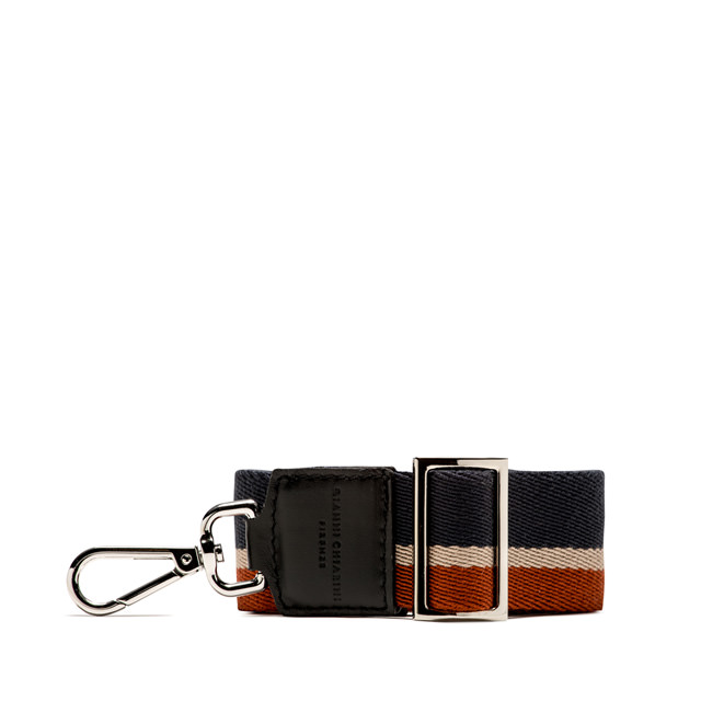 GIANNI CHIARINI: 3STRIPES SHOULDER STRAP COLOR BLUE/RED