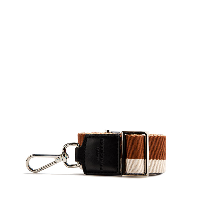 GIANNI CHIARINI: DOUBLE SHOULDER STRAP COLOR ORANGE/BEIGE