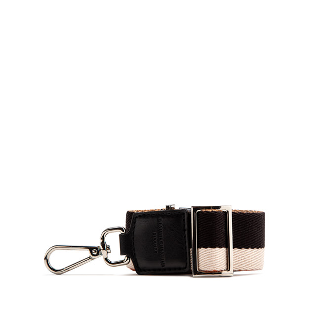GIANNI CHIARINI: DOUBLE SHOULDER STRAP COLOR BLACK/BEIGE