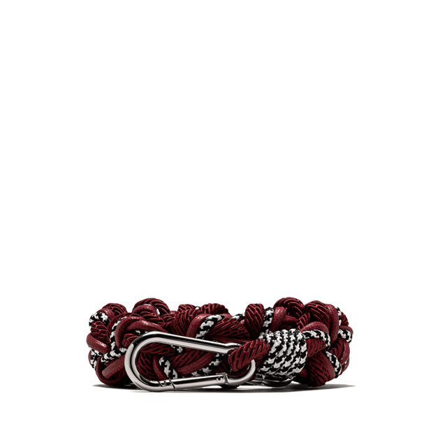 GIANNI CHIARINI: ROPE BURGUNDY SHOULDER STRAP