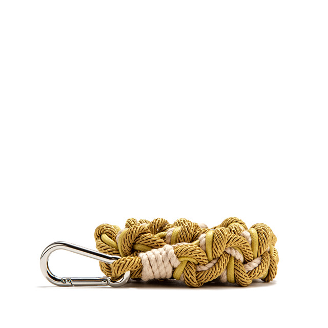 GIANNI CHIARINI: ROPE SHOULDER STRAP COLOR YELLOW