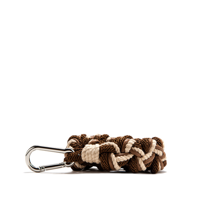 GIANNI CHIARINI: ROPE SHOULDER STRAP COLOR BROWN