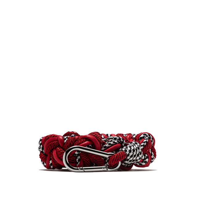 GIANNI CHIARINI ROPE RED SHOULDER STRAP