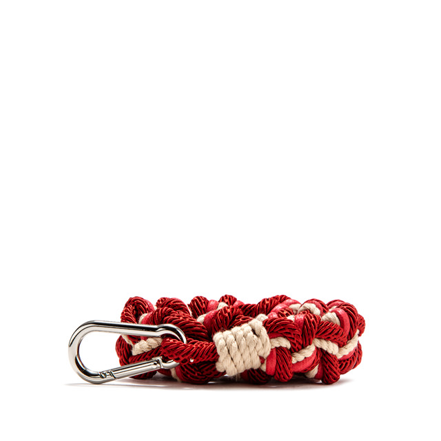 GIANNI CHIARINI: ROPE SHOULDER STRAP COLOR RED