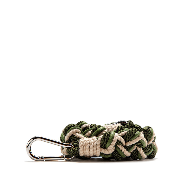 GIANNI CHIARINI: ROPE SHOULDER STRAP COLOR GREEN