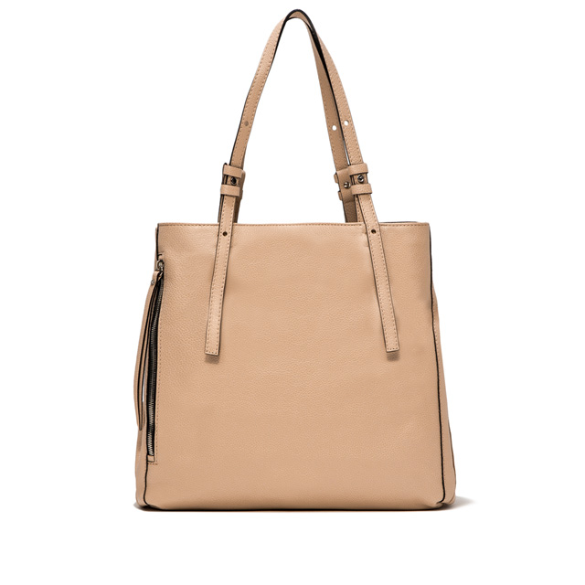 GIANNI CHIARINI TWIN LARGE NUDE SHOPPING BAG
