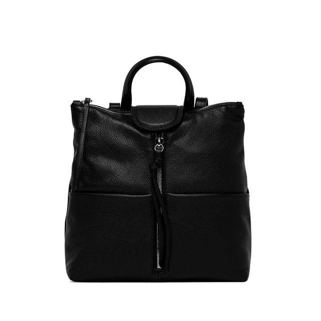 GIANNI CHIARINI: GIADA MEDIUM BLACK BACKPACK