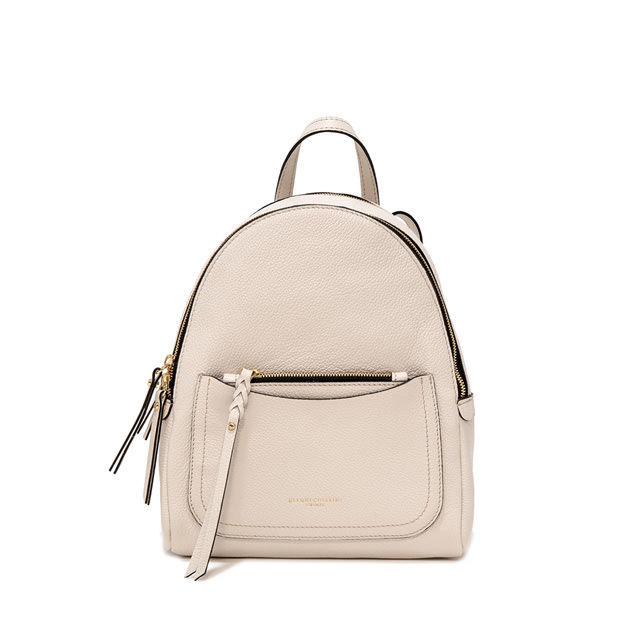 GIANNI CHIARINI: OGIVA LARGE WHITE BACKPACK