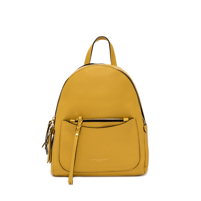 GIANNI CHIARINI: OGIVA LARGE YELLOW BACKPACK