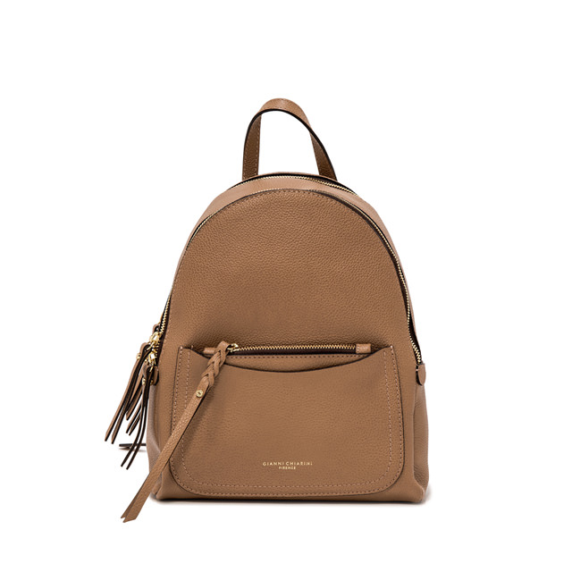 GIANNI CHIARINI: OGIVA LARGE BROWN BACKPACK