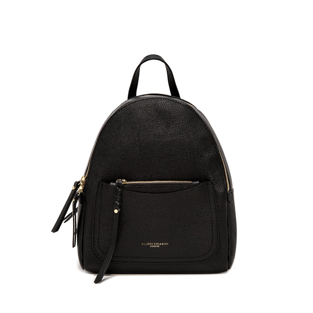 GIANNI CHIARINI: OGIVA LARGE BLACK BACKPACK