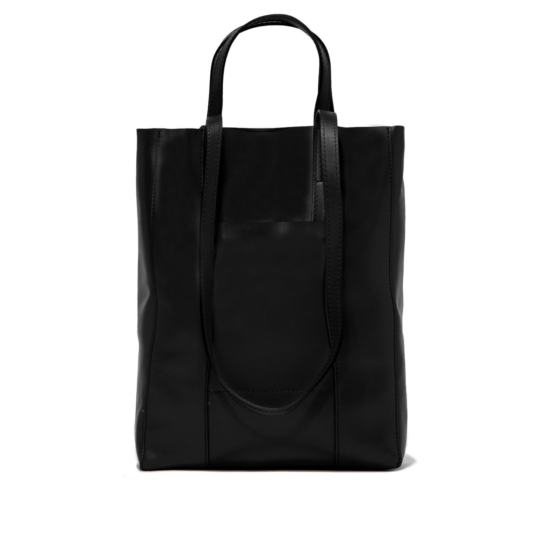 GIANNI CHIARINI: SUPERLIGHT LARGE BLACK SHOPPING BAG