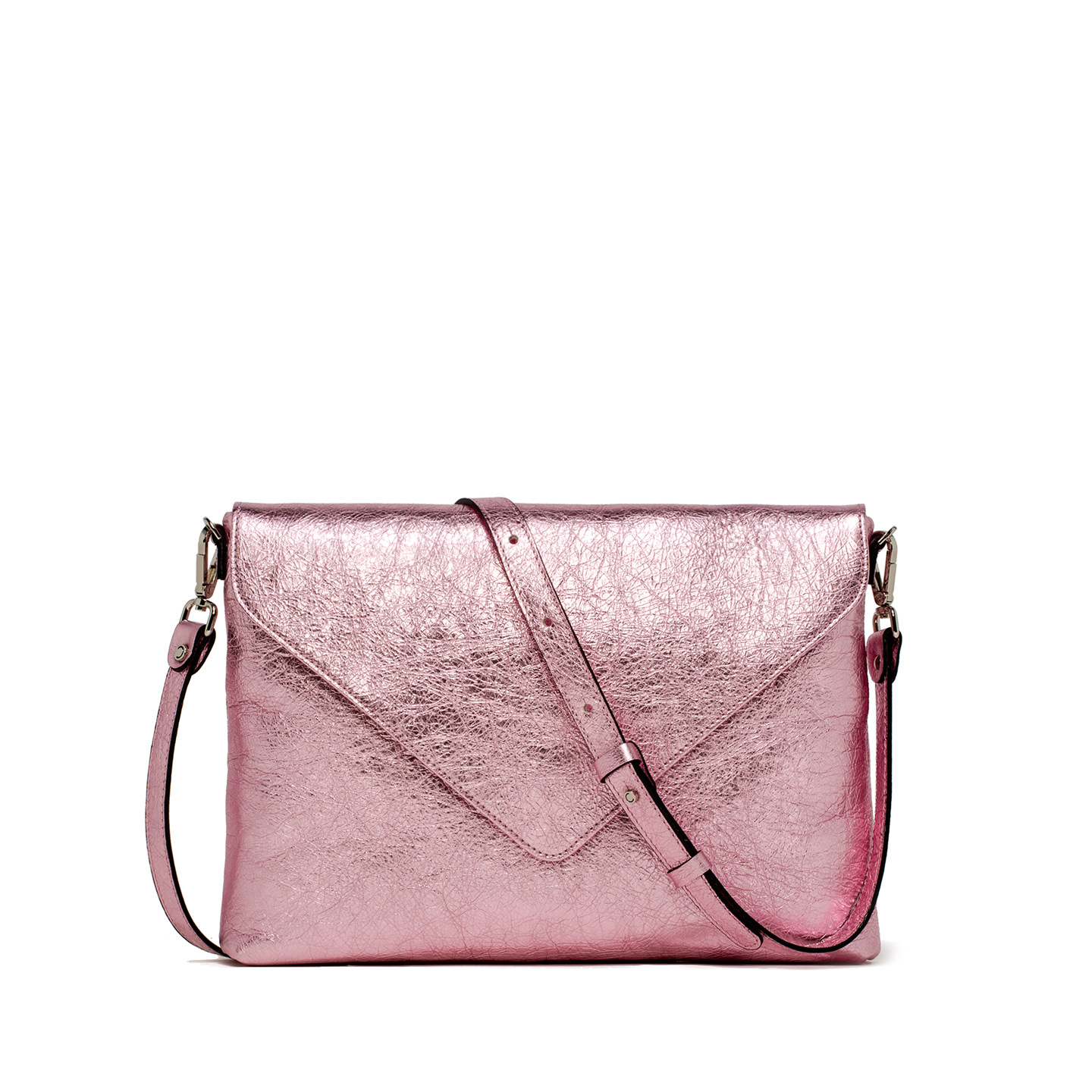 GIANNI CHIARINI: VICTORIA LARGE PINK CLUTCH BAG
