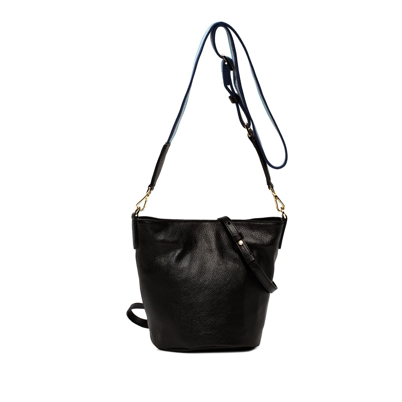 GIANNI CHIARINI: JACKIE LARGE BLACK BUCKET BAG