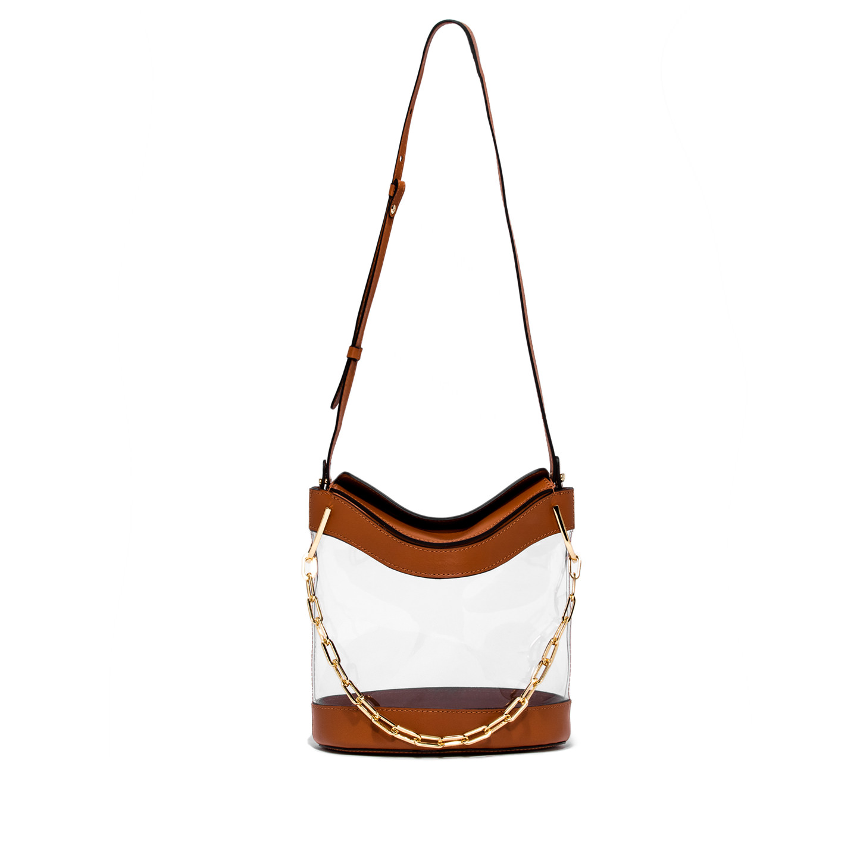 GIANNI CHIARINI: SOPHIA LARGE BROWN  BUCKET BAG