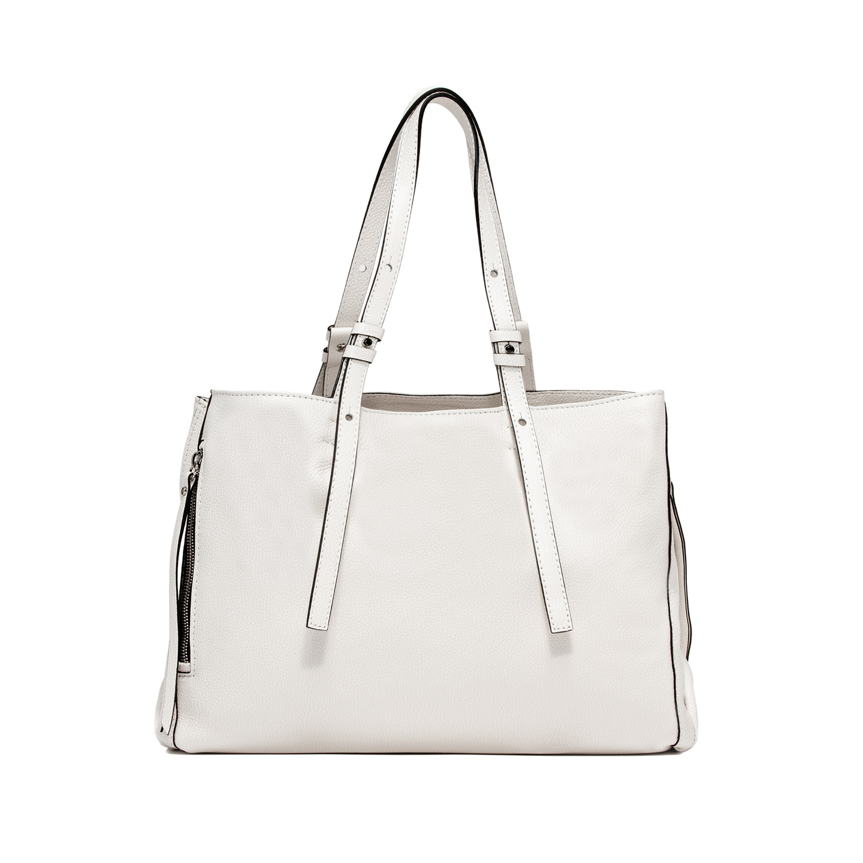GIANNI CHIARINI: TWIN LARGE WHITE SHOPPING BAG