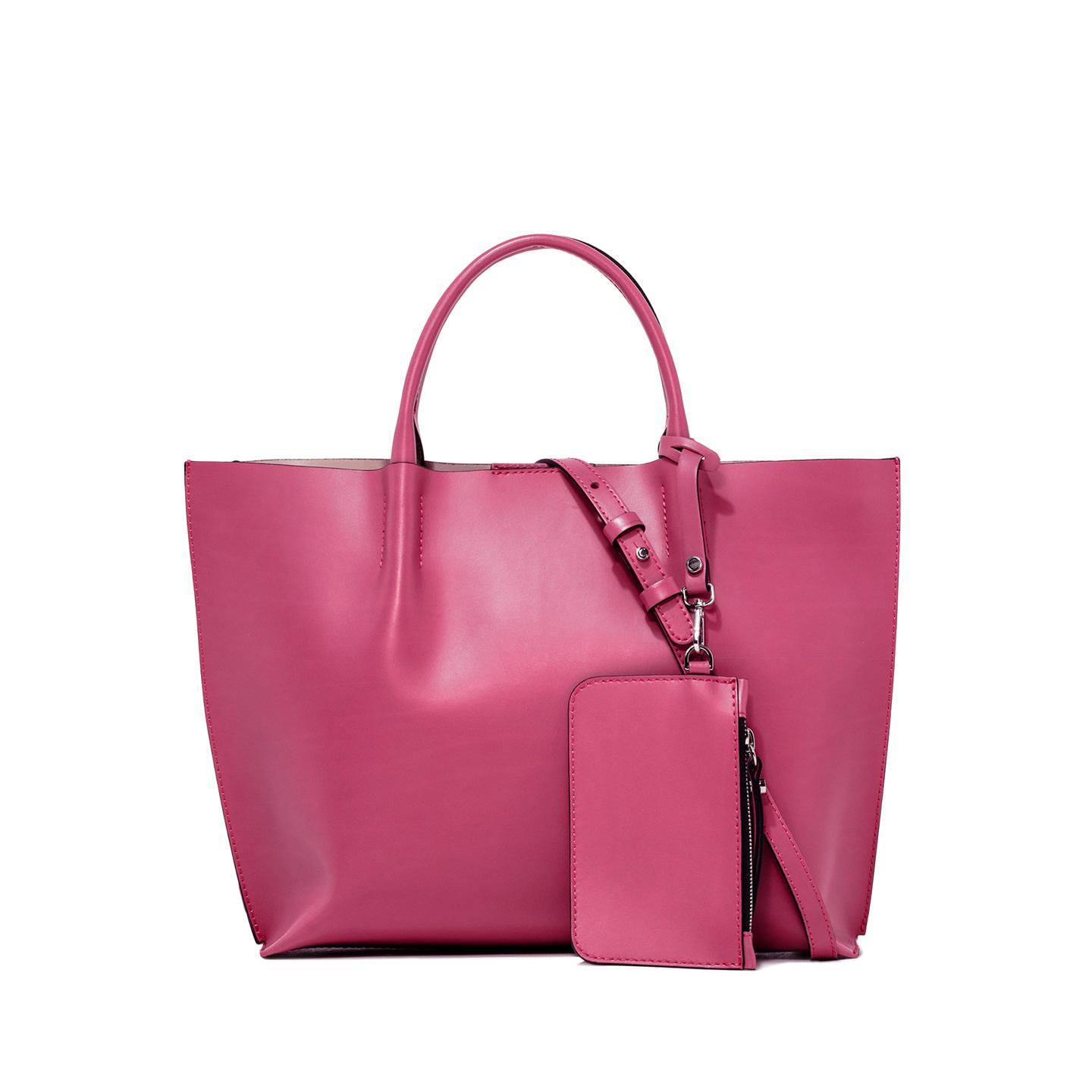 GIANNI CHIARINI: TWENTY MEDIUM PINK SHOPPING BAG